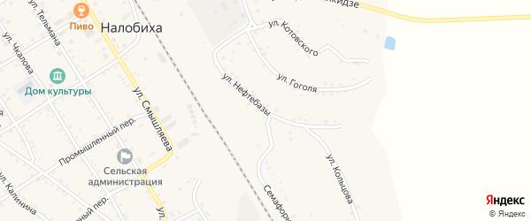 Улица Нефтебазы на карте села Налобиха с номерами домов