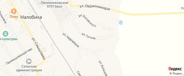 Улица Гоголя на карте села Налобиха с номерами домов