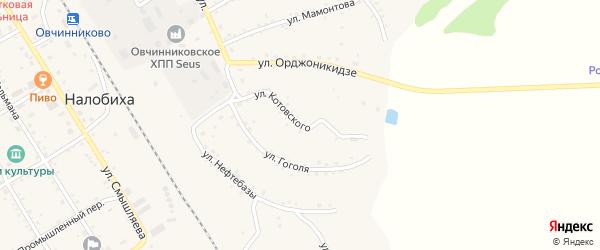 Улица Котовского на карте села Налобиха с номерами домов