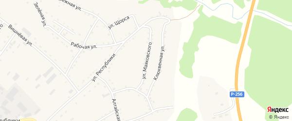 Улица Маяковского на карте села Налобиха с номерами домов