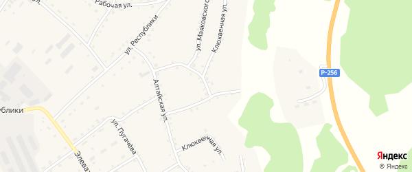 Клюквенная улица на карте села Налобиха с номерами домов