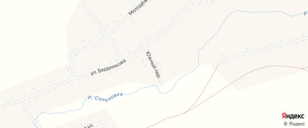Южный переулок на карте села Солоновка с номерами домов