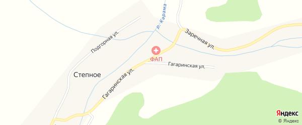 Гагаринская улица на карте Степного села с номерами домов