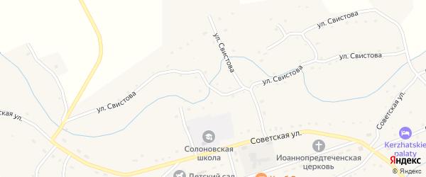 Улица Свистова на карте села Солоновка с номерами домов