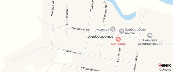 Садовая улица на карте Хлеборобного села с номерами домов