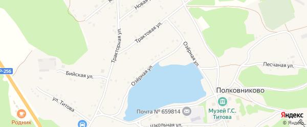 Озерная улица на карте села Полковниково с номерами домов