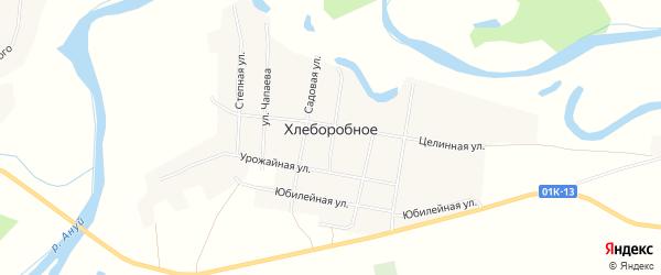 Карта Хлеборобного села в Алтайском крае с улицами и номерами домов