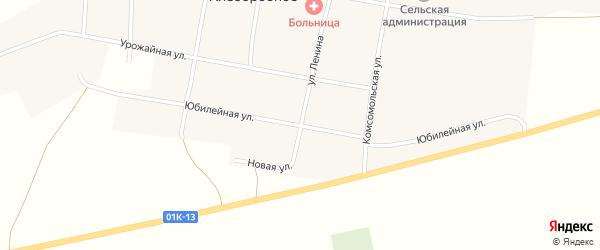 Юбилейная улица на карте Хлеборобного села с номерами домов