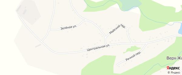 Весенняя улица на карте села Верх-Жилино с номерами домов