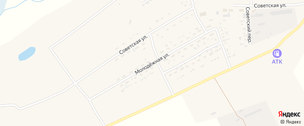Молодежная улица на карте Беловского поселка с номерами домов