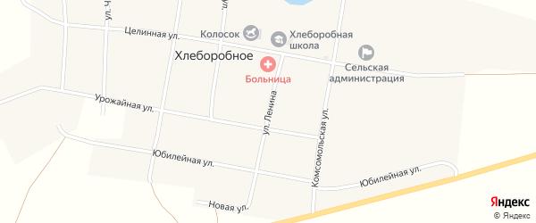 Улица Ленина на карте Хлеборобного села с номерами домов