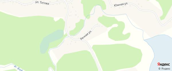 Речная улица на карте села Полковниково с номерами домов