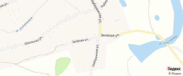 Зеленая улица на карте села Солоновка с номерами домов