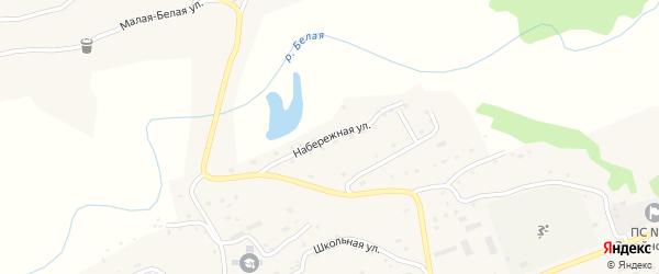 Набережная улица на карте Беловского поселка с номерами домов