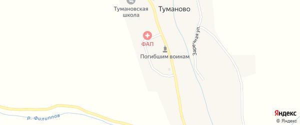 Заводская улица на карте села Туманово с номерами домов