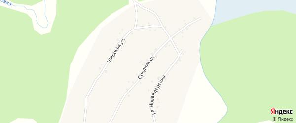 Средняя улица на карте села Полковниково с номерами домов