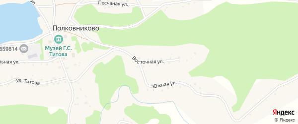 Восточная улица на карте села Полковниково с номерами домов
