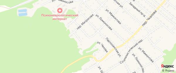 Улица Чехова на карте Троицкого села с номерами домов
