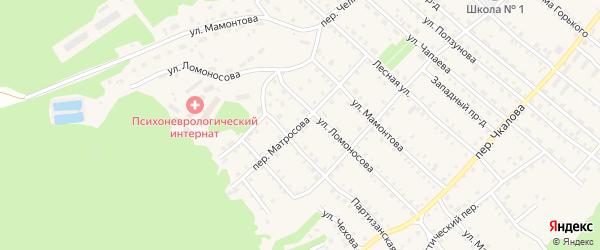 Переулок Матросова на карте Троицкого села с номерами домов