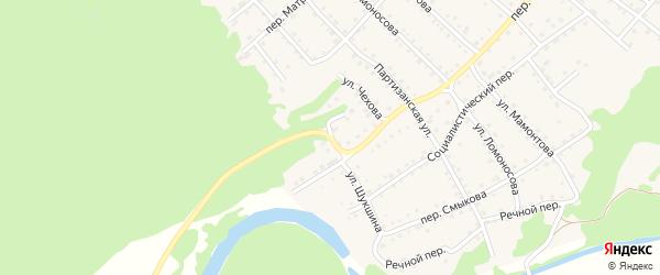 Улица Шукшина на карте Троицкого села с номерами домов