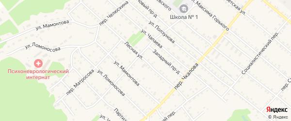 Лесная улица на карте Троицкого села с номерами домов