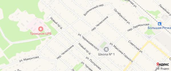 Переулок Челюскина на карте Троицкого села с номерами домов