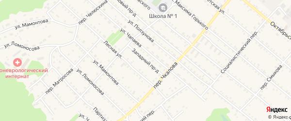 Западный проезд на карте Троицкого села с номерами домов