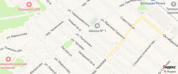 Переулок Лермонтова на карте Троицкого села с номерами домов
