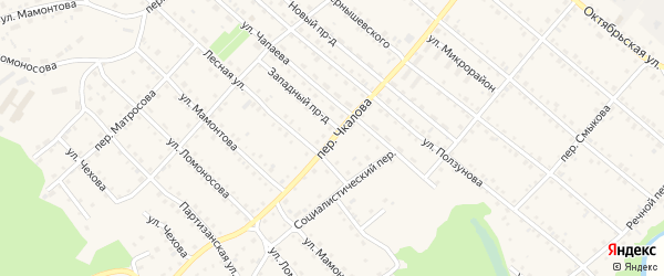Переулок Чкалова на карте Троицкого села с номерами домов