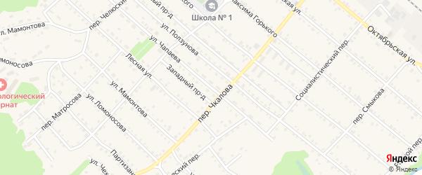 Улица Чапаева на карте Троицкого села с номерами домов