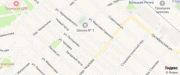 Улица Чернышевского на карте Троицкого села с номерами домов