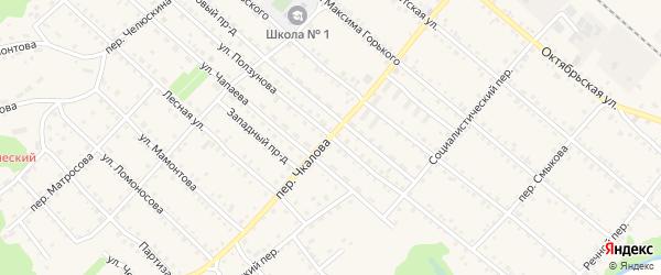 Улица Ползунова на карте Троицкого села с номерами домов