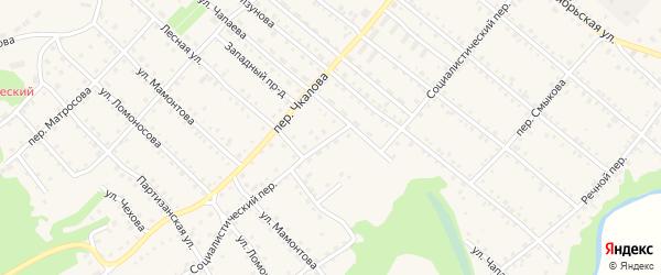 Социалистический переулок на карте Троицкого села с номерами домов