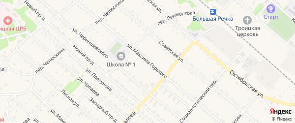 Улица М.Горького на карте Троицкого села с номерами домов