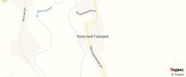 Карта поселка Красного Городка в Алтайском крае с улицами и номерами домов