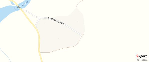 Раздольная улица на карте поселка Красного Городка с номерами домов