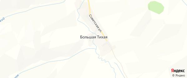 Карта села Большей Тихой в Алтайском крае с улицами и номерами домов