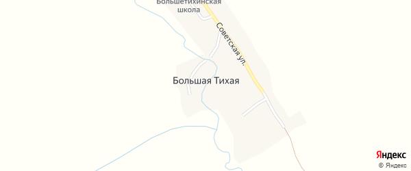 Зелёный переулок на карте села Большей Тихой с номерами домов