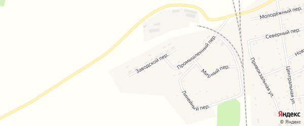 Заводской переулок на карте Гордеевского поселка с номерами домов