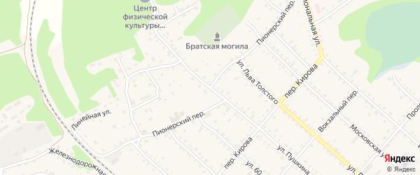 Пионерский переулок на карте Троицкого села с номерами домов