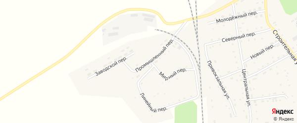 Промышленный переулок на карте Гордеевского поселка с номерами домов