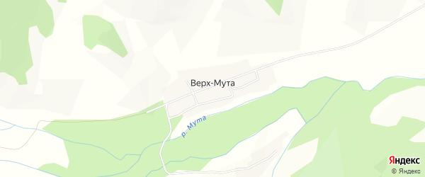 Карта села Верха-Мута в Алтае с улицами и номерами домов