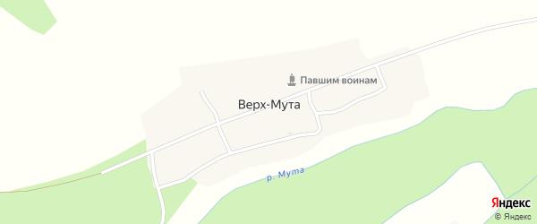 Заречная улица на карте села Верха-Мута с номерами домов