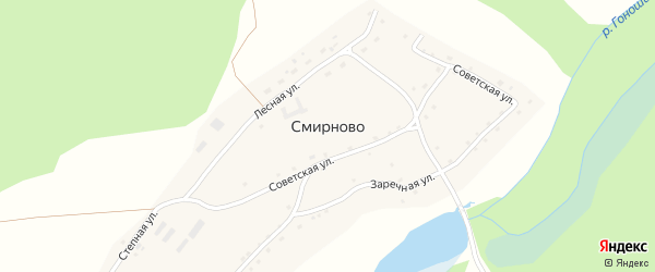Степная улица на карте села Смирново с номерами домов