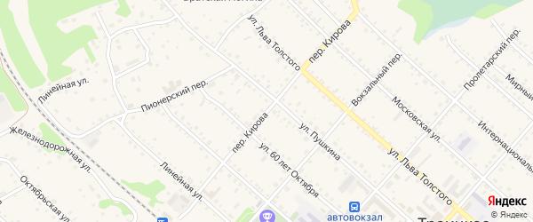 Переулок Кирова на карте Троицкого села с номерами домов