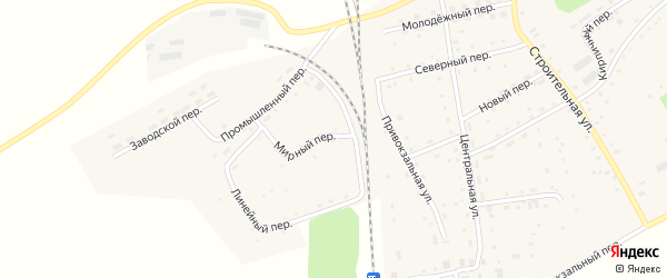 Урожайный переулок на карте Гордеевского поселка с номерами домов