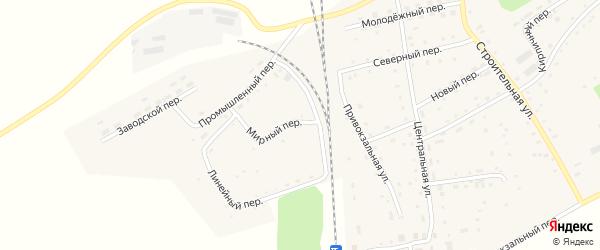 Мирный переулок на карте Гордеевского поселка с номерами домов