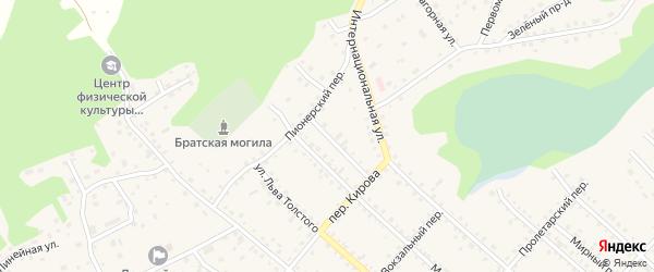 Улица Московский разрез на карте Троицкого села с номерами домов