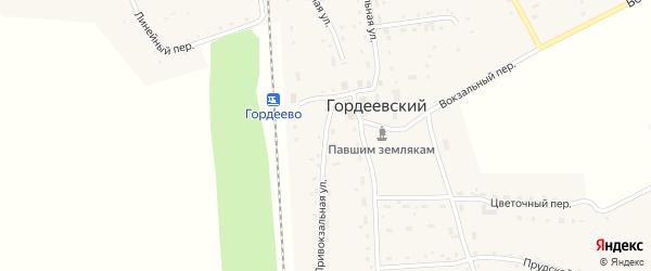 Привокзальная улица на карте Гордеевского поселка с номерами домов