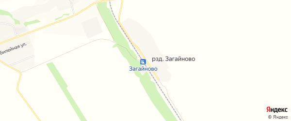 Карта разъезда Загайново в Алтайском крае с улицами и номерами домов